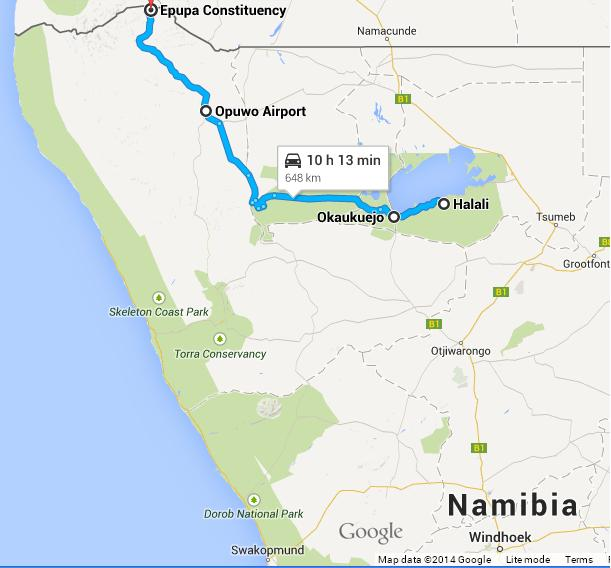 Namibia fourth leg